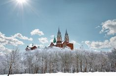 Holy Hill by Dave Biermann on Capture Wisconsin // A very cold and frosty morning at Holy Hill.