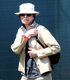 Princess Anne was also looking relaxed in the sun as she supported her daughter from the sidelines on the fifth day of the event
