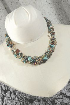 Hand crocheted necklace by planAartwear on Etsy, $59.00