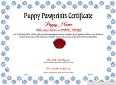 Sports certificate template sports certificate templates the puppy pawprints certificate template lets you create downloadable printable and shareable puppy pawprints certificate designs using our html5 designer yelopaper Images