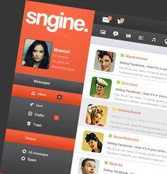 Sngine Network UI by Moe slah, via Behance