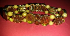Vintage stretch elastic honey colored bracelet floral acrylic rhinestones   Jewelry & Watches, Fashion Jewelry, Bracelets   eBay!