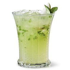 """The refreshing combination of muddled fresh basil and sweet pear-flavored vodka and nectar can't be beat. Pear-Basil Sipper is the """"pearfect"""" pick for holiday entertaining or even a summertime libation."""