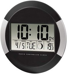 Digital wall clocks - hama digital radio wall clock black HamaHama Best Picture For watch leather For Your Taste - Radios, Art Party Decorations, Wall Clock Digital, Atomic Time, Black And Gold Watch, Antique Wall Clocks, Farmhouse Mirrors, Trendy Watches, Thermometer