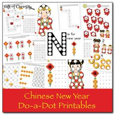 Chinese New Year Do-a-Dot Printables