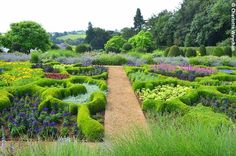 The Galloping Gardener: Broughton Grange near Banbury - a walled garden with a difference and parterre planted to perfection