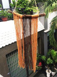 Wool WindchimesGarden Decor wind chimegift for by SukaShop on Etsy Seashell Wind Chimes, Plant Hanger, Sea Shells, Wool, Unique Jewelry, Handmade Gifts, House, Etsy, Vintage