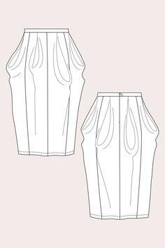 Named Zaria flow skirt