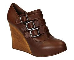 CHLO WOMENS CH717100332 BROWN LEATHER WEDGES *** You can get additional details at the image link.