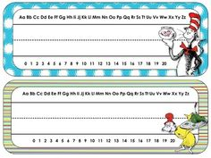 Dr. Seuss Theme Desk Tags and Name Plates {Editable}Your students will love working through the year with these Dr. Seuss desk tags. Perfect for any age, they add an extra flair to your classroom!You can also use these tags as classroom labels, for word wall cards, cubbies, daily schedules and book bins!Included: *A variety of name tags with Dr.