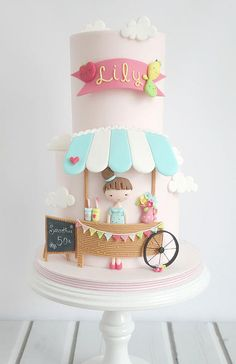 Smoothie Stand Lemonade Stand Ice Cream Parlor Cake Sweet Shoppe - adorable! thatbakinggirl | My Gallery