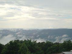 The mountainsides