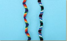 Friendship Bracelet Patterns: Zig Zag - craft project ideas