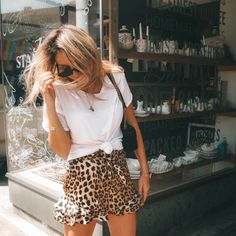 cheetah ruffle skirt - casual fall outfit winter outfit style outfit inspiration millennial fashion street style boho vintage grunge casual indie urban hipster minimalist dresses tops blouses pants jeans denim jewelry accessories - April 20 2019 at Mode Outfits, Fashion Outfits, Womens Fashion, Skirt Outfits, Ladies Fashion, School Outfits, Skirt Fashion, Fashion Boots, Casual Fall Outfits