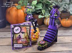 "Brigit's Scraps ""Where Scraps Become Treasures"": Witches shoe and Unity Stamps"