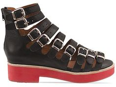 Jeffrey Campbell Cayman H 2 in Black Red at Solestruck.com