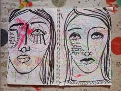 Art journaling – Work with what you have Journal Pages, Junk Journal, Professional Art Supplies, Texture Art, All You Need Is, Face Shapes, Art Journaling, Love Art, Mixed Media Art