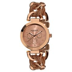 Akribos XXIV Women's Multifunction Mesh Link Rose-Tone Bracelet Watc | Overstock.com Shopping - Big Discounts on Akribos XXIV Women's Akribos XXIV Watches