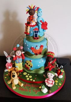 Cbeebies themed cake