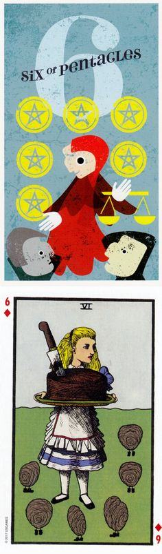 Six of Pentacles: earning good karma and stingy (reverse). Mid Centurian Tarot deck and Wonderland Tarot deck: halloweentarot, tarotlenormand and absolutely free tarot card reading. New divination spell and tarot decks cards. #tarotchart #gothwitch #ghost #pagan #thesun #judgement