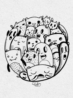 designed by #dushky | #art #illustration #drawing #sticker #design #monsters #creatures #cute #fun #umanshop
