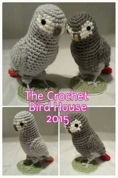 African Greys Crochet Parrots                                                                                                                                                     More