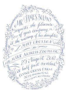 Partes de matrimonio caligrafía, #bodas #invitaciones