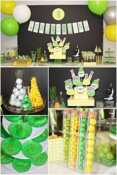 Mad Science Birthday Party Food Ideas www.spaceshipsandlaserbeams.com