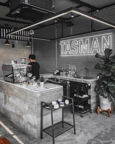 Coffee Bar Design, Coffee Shop Bar, Small Coffee Shop, Coffee Shop Interior Design, Coffee Store, Restaurant Interior Design, Coffee Shop Counter, Cafe Counter, Modern Restaurant