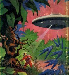 Vintage Sci-Fi Art Astronaut - Pics about space Ufo, Sci Fi Kunst, Science Fiction Kunst, Sci Fi Books, Sci Fi Series, Fantastic Art, Amazing Books, Sci Fi Fantasy, Fantasy Books