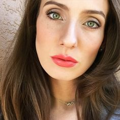 Natural spring makeup! Lip color in Melted Melon! @TooFaced