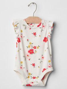 Floral flutter bodysuit Product Image