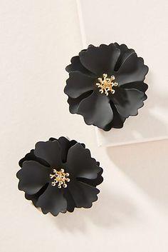 Painted Blooms Post Earrings Birthday Wishlist, Mine Mine, Anthropologie,  Women s Jewelry, Black d40510b01d