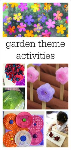 Garden theme ideas and activities for preschool and kindergarten