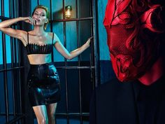 ELIZABETH BANKS GETS DARK FOR FLAUNT SHOOT BY HUNTER & GATTI