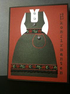 Sofasara`s hobbyblogg: Bunadskort Scandinavian, Card Making, Diy Crafts, Cards, How To Make, Vintage, Homemade, Maps, Crafts
