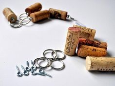 I just discovered a great use for all those wine corks I've been collecting! Wine cork keychain craft! Love it!