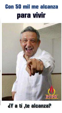 Lopez Obrador gana 50000 pesos.