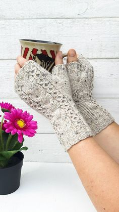 Knit Pika gloves pdf PATTERN easy fingerless gloves tutorial how to make cable knit gloves armwarmers handwarmers pattern cable gloves Mittens Pattern, Knit Mittens, Knitted Gloves, Wrist Warmers, Hand Warmers, Cable Knitting, Fingerless Mitts, Knitting Accessories, Knit Crochet