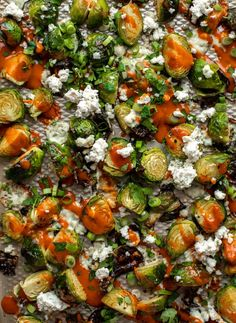Good Healthy Recipes, Easy Healthy Dinners, Real Food Recipes, Vegetarian Recipes, Veggie Side Dishes, Vegetable Sides, Roasted Sprouts, Buffalo Wings, Fruit And Veg