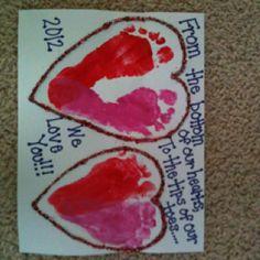 Valentine craft we made for daddy