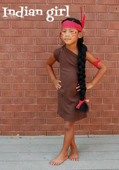 Whatever Dee-Dee wants, she's gonna get it: DIY Indian Girl Costume