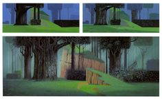 Eyvind Earle painting process