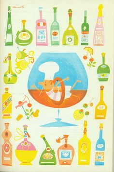 Sarah Pinyan posted Esquire Cookbook Illustration by Bill Charmatz to her -nice signs- postboard via the Juxtapost bookmarklet. Pattern Illustration, Children's Book Illustration, Food Illustrations, Album Jeunesse, Estilo Retro, Vintage Cookbooks, Modern Graphic Design, Web Design, Vintage Posters