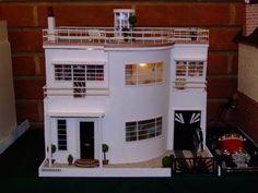 1930s Art Deco Dolls House. Did a seach for art deco miniatures. Really neat.