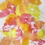 Leaf Art: Tissue Paper Bleeding
