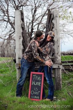 Country Engagements | Salt & Light Photography #barn #field #wedding #photographer #love #camo #hunting #bows #the #hunt #is #over