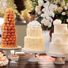 Tiered Ivory Wedding Cakes