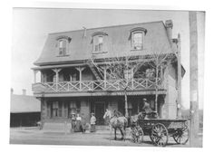Dominion House formerly Dalbys' Tavern, it was definitely the place to visit in the Century, was located South East of Trench Works in the Village of Richmond Hill. Richmond Hill, Trench, 19th Century, Places To Visit, Fair Grounds, House, Painting, Travel, Voyage