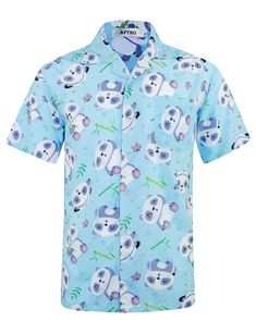 98731ca93 APTRO Men's Funny Christmas Hawaiian Shirt 4 Way Stretch Short Sleeve Shirts